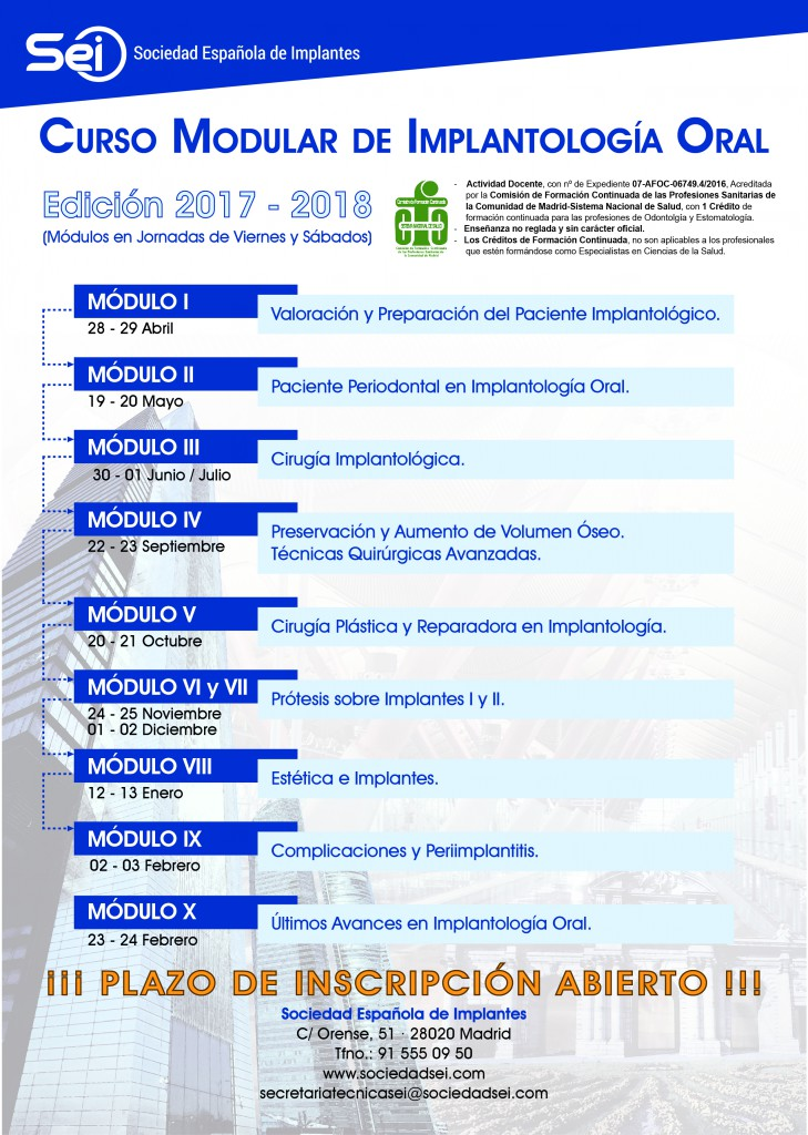 SEI Flyer A4 Curso Implantologia Oral